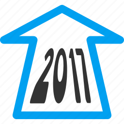 2017, ahead arrow, forward, future, navigation, new year, next icon