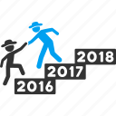 2017 year, business, education steps, gentlemen help, learning, school, training icon