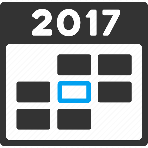 2017 year, appointment, calendar, date, day, schedule, time table icon