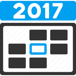 2017 year, appointment, calendar, date, day, plan, time table icon