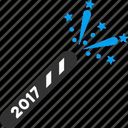 2017 year, bangers, cracker, festival, firecracker, firecrackers, petard icon