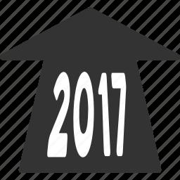 2017 year, ahead arrow, forward, future, new year, next, road icon