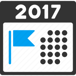 2017 year, appointment, calendar, date, plan, schedule, time table icon