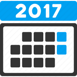 2017 year, appointment, calendar, month, organizer, schedule, time table icon