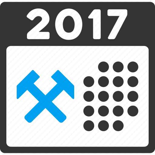 2017 year, appointment, business, schedule, service, work, working days icon
