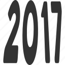 2017 year, future, label, message, new, perspective, text icon