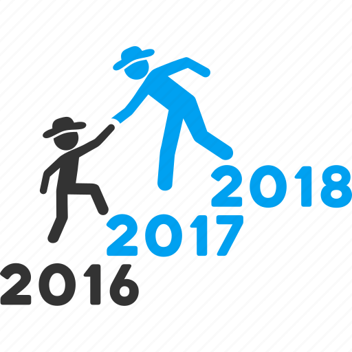 2017 year, annual, business help, education, guys, training, years icon