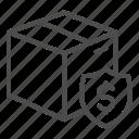 box, cardboard, dollar, package, parcel, shipping, emblem