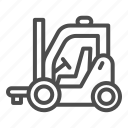 forklift, loader, truck, delivery, warehouse, vehicle, transportation