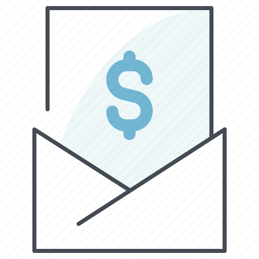 cash, dollar, envelope, finance, letter, marketing, money icon