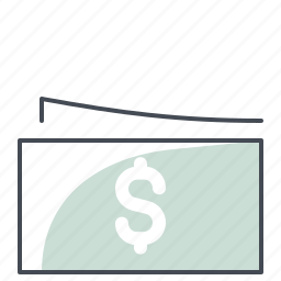 accounting, business, cash, dollar, economy, finance, money icon