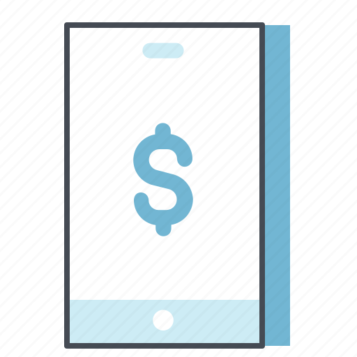 business, cash, finance, mobile, money, payment, transaction icon