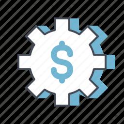 accounting, business, dollar, economy, money, optimize, setting icon