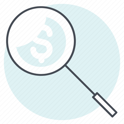 accounting, cash, dollar, finance, it, search, tax icon
