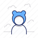 bear, kigurumi, teddy icon