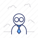 glasses, scientist, user icon