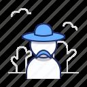 cowboy, hat, western icon