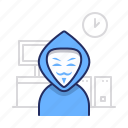 cyber, hacker, hacking icon