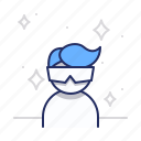 cool, glasses, guy icon