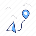 marker, navigation, pointer icon