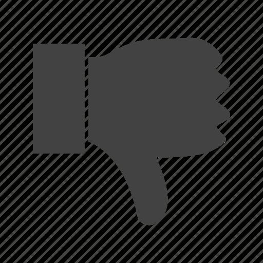 direction, dislike, down, hand, thumbs icon