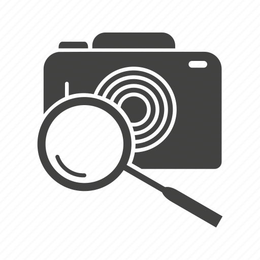 camera, find, image, magnifier, photo, picture, search icon