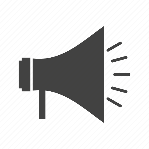 advertising, announcement, loudspeaker, megaphone, speaker icon
