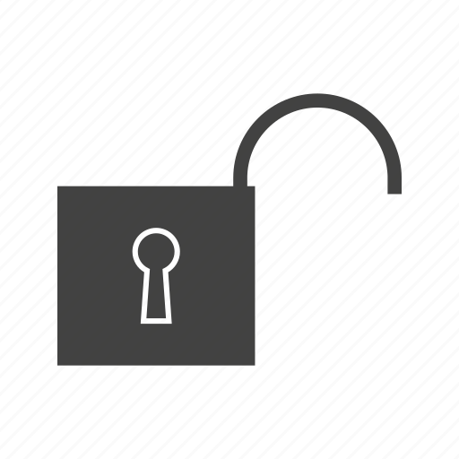 open, open lock, security, unlocked, unsecured icon