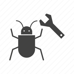 bug fixing, insect, seo, virus icon