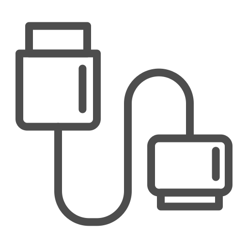 data cable, data cable icon, data cable line icon icon