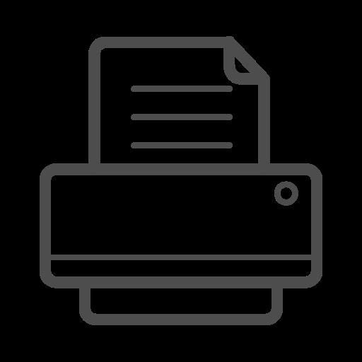 printer, printer icon, printer line icon icon