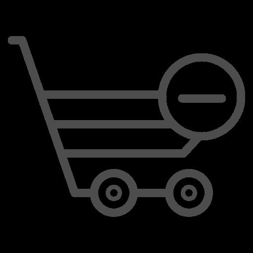 cart, remove, remove cart, remove cart icon, shopping cart, shopping cart icon icon