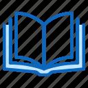 book, education, library, novel, open icon