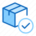 box, checked, delivered, delivery, package, parcel icon