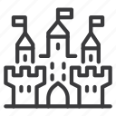 building, castle, city icon