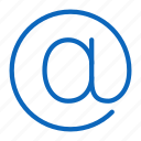 at, commercial, email, sign icon