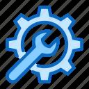 blue, cogwheel, gear, setting, settings, tabbaricons, wrench