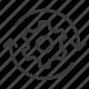 cogwheel, gear, reset, setting