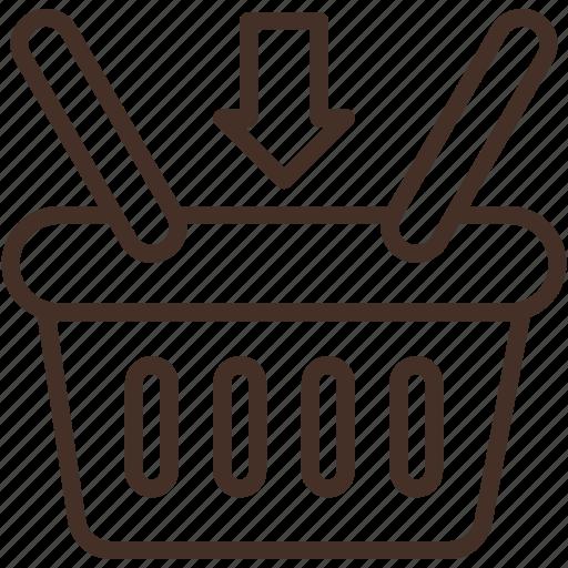 basket, buy, item, retail, shopping, store icon