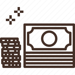 bill, cash, coin, money, pile, stack icon