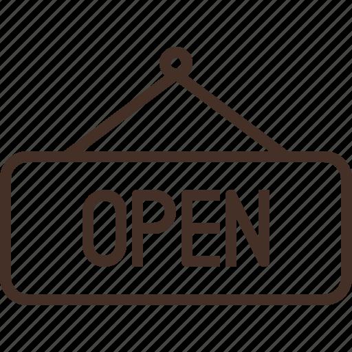 hang, light, open, shop, sign icon