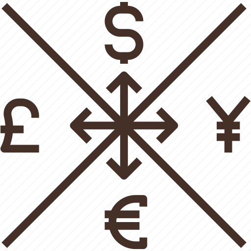 currency, exchange, global, money, sign icon