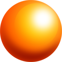 ball, orange, sphere icon