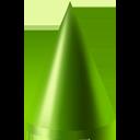 cone, green icon