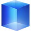 blue, cube icon