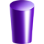 cylinder, purple icon