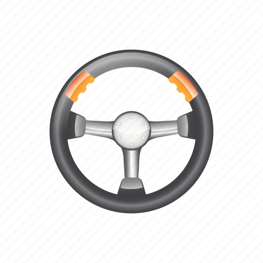 automotive, object, round, silver, steering, vehicle, wheel icon