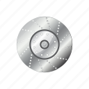 automotive, brake, circle, disc, disk, steel, wheel icon