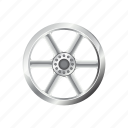 alloy, automotive, car, rim, steel, wheel icon