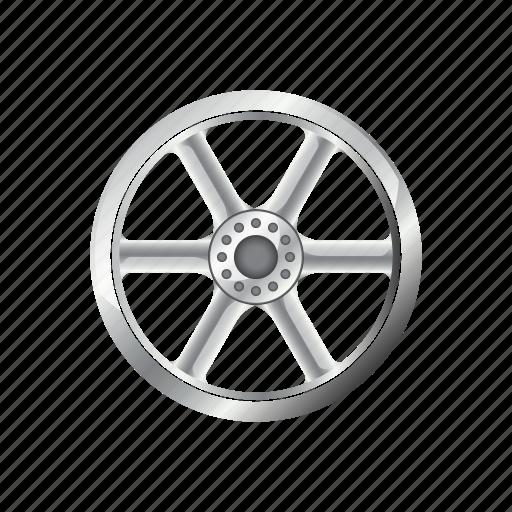 alloy, automotive, car, rim, steel, wheel icon